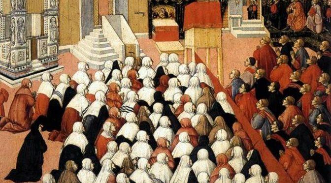 «Comme à la messe: hommes à droite, femmes à gauche» (3): un regard contemporain sur une image du 15e siècle